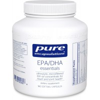Pure Encapsulations - EPA/DHA Essentials - Ultra-Pure, Molecularly Distilled Fish Oil Concentrate - 180 Softgel Capsules - Standard Packaging