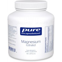 Pure Encapsulations - Magnesium - Citrate - Hypoallergenic Supplement Supports Nutrient Utilization and Physiological Functions* - 180 Capsules