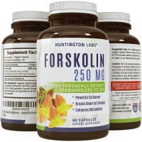 Pure Forskolin Supplement - Highest Grade & Powerful Antioxidant, Weight Loss, Boosts Energy for Women & Men - Guaranteed By Huntington Labs