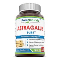 Pure Naturals Astragalus All Natural Dietary Supplement - 1000 mg - 120 Soft gels Per Bottle- Supports Healthy Immune System, Supports Rebalancing Metabolism, Supports Healthy Liver & Vascular System*