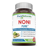 Pure Naturals Noni - 400mg Capsules - 120 Capsules Per Bottle - Made from Tahitian Noni Fruit from the Morinda Citrifolia Plant - Supports Healthy Immune System and Cellular Responses*