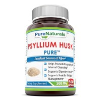 Pure Naturals Psyllium Husk 500 mg 500 Capsules - helps with regulating gastrointestinal health