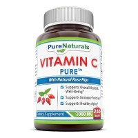 Pure Naturals Vitamin C with Rose Hips - 240 Tablets - 1000mg Viatmin C with 62.50 mg of Rosehip fruit extract -For Immune Support, Healthy Ageing & Overall Well-being