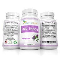 Pure Organic 250 mg Milk Thistle Seed Standardized 80% Extract for Liver Cleanse Supplement For Detox- Support & Prevention Capsules Packed With Silymarin Dandelion & Flavonoids