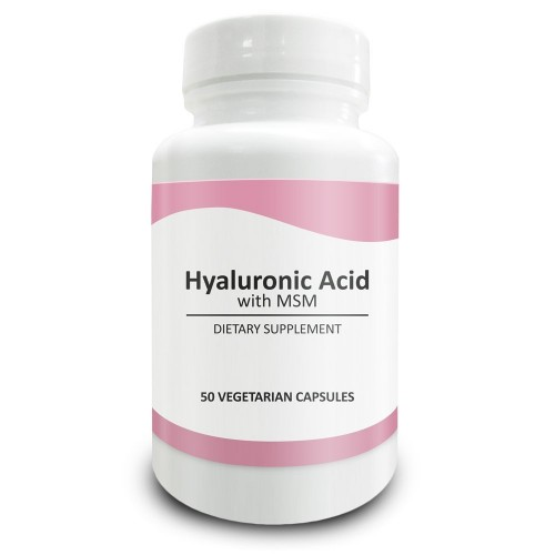Pure Science Hyaluronic Acid and MSM 520mg - Hyaluronic Acid Supplements  for Joint & Muscle Health, Skin Elasticity and Eye Health - 50 Vegetarian