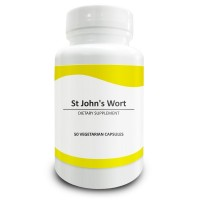 Pure Science St Johns Wort Capsules 500mg - St Johns Wort Standardized to 0.3% Hypericin - Alleviates Depression & Anxiety and Regulates Mood - 50 Vegetarian Capsules of St Johns Wort Extract