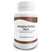 Pure Science Stinging Nettle Root Extract 500mg (300mg Nettle Root Extract at 2% Silica & 200mg Nettle Root Powder) - Promotes Prostate Health & Increases Free Testosterone - 50 Vegetarian Capsules