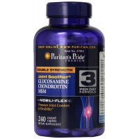 Puritan's Pride Double Strength Glucosamine, Chondroitin & MSM Joint Soother-240 Caplets