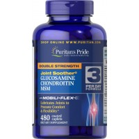 Puritan's Pride Double Strength Glucosamine, Chondroitin & MSM Joint Soother-480 Caplets