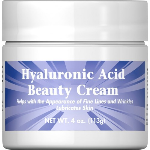 Puritans Pride Hyaluronic Acid Beauty Cream-4 oz Cream