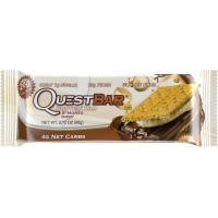 Quest Nutrition Protein Bar, S,mores, 20g Protein, No added Sugar, 2.12oz Bar, 12 Count