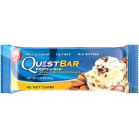 Quest Nutrition Protein Bar, Vanilla Almond Crunch, 20g Protein, 2.12oz Bar, 12 Count