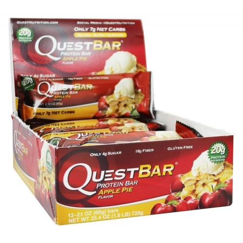 Quest Nutrition Protein Bars, Apple Pie (1-Pack of 12)