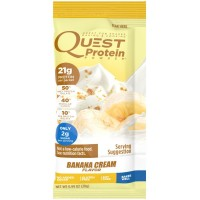 Quest Nutrition Protein Powder, Banana Cream, 21g Protein, Soy Free, 12 Count