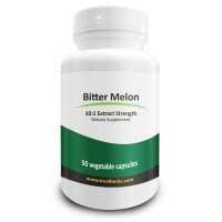 Real Herbs Bitter Melon Extract - Derived from 7500mg of Bitter Melon with 10 to 1 Extract Strength - Regulates Blood Sugar, Immune System and Respiratory Health Support - 50 Vegetarian Capsules