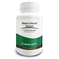 Real Herbs Black Cohosh Extract - Derived from 3,000mg of Black Cohosh with 5 : 1 Extract Strength - Reduces Hot Flashes, Anxiety & Mood Swings, Improves Sleep Quality - 50 Vegetarian Capsules