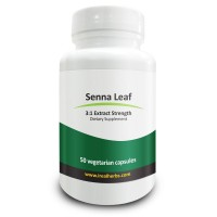Real Herbs Senna Leaf Extract - Derived from 2,100mg of Senna Leaf with 3 : 1 Extract Strength - Laxative, Anti-Inflammatory Agent & Improves Metabolism - 50 Vegetarian Capsules