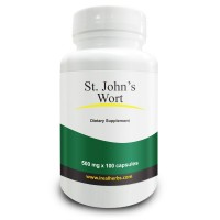 Real Herbs St. John's Wort 0.3 percent Hypericin 500mg Natural Mood Support, Balances Metabolism and Overall Health-100 Vegetarian Capsules