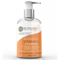 Retseliney Revitalizing Vitamin C Face Wash, Vegan, Natural & Organic Facial Cleanser with 15% Vitamin C, Tea Tree Oil, Soap Free, Deep Pore Cleanser, Anti Aging & Antioxidant for Men & Women