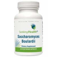 Saccharomyces Boulardii | Microbial Support Probiotic Supplement | 5 Billion CFU per Capsule | 60 Vegetarian Capsules | Physician-Formulated | Seeking Health