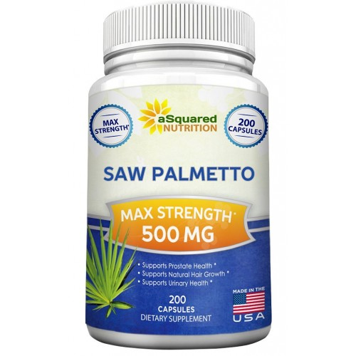 Saw Palmetto Supplement For Prostate Health (200 Capsules) - 500mg Max  Strength Extract & Berry Powder Complex to Reduce Frequent Urination, DHT