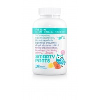 SmartyPants PreNatal Complete Gummy Vitamins: Multivitamin, Folate (Methylfolate), Vitamin K2, Vitamin D3, B12 (Methylcobalamin), Biotin, AND Omega 3 DHA / EPA Fish Oil, 180 count
