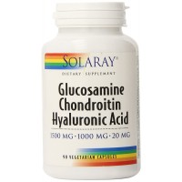 Solaray Glucosamine Chondroitin and Hyaluronic Acid Capsules, 90 Count