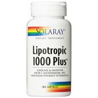 Solaray Lipotropic 1000 Plus Vitamin Capsules, 100 Count