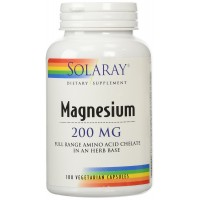 Solaray Magnesium, AAC Supplement, 200 mg, 100 Count