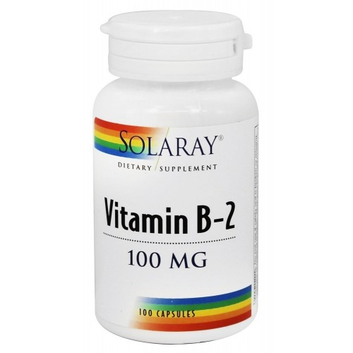 Solaray Vitamin B-2 100mg 100 Capsules