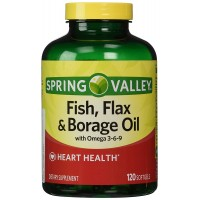 Spring Valley - Fish, Flaxseed, Borage Oil, Omega 3, 6, 9, 120 Softgels
