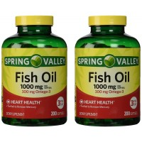 Spring Valley - Fish Oil Omega-3, 1000 mg, 400 Softgels, Twin Pack