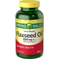 Spring Valley - Flaxseed Oil 1200 mg, 200 Softgels