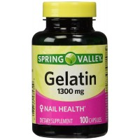 Spring Valley,Gelatin 1300mg (NAIL HEALTH),dietary supplement 100 capsules