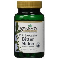 Swanson Full Spectrum Bitter Melon 500mg - 2 Bottles each of 60 Capsules