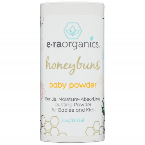 54632bed50267 Era organics Talc Free Baby Powder 3oz. USDA Certified Organic Dusting  Powder by Honeybuns Non-GMO, Cruelty Free, Natural and Organic Baby Products
