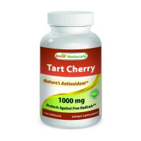 Tart Cherry Extract 1000 mg 120 Capsules - Manufactured in a USA Based GMP Certified and FDA Inspected Facility and Third Party Tested for Purity