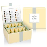 Tea Forté Tea Chest Tasting Assortment with 40 Handcrafted Pyramid Tea Infusers - Black Tea, Herbal Tea, Oolong Tea, Green Tea, White Tea
