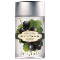 Tea Forte BLACK CURRANT Loose Leaf Black Tea, 3.5 Ounce Tea Tin
