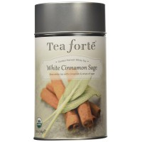 Tea Forte Garden Harvest White WHITE CINNAMON SAGE Organic Loose Leaf White Tea, 2.82 oz
