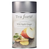 Tea Forte Garden Harvest White WILD APPLE GINGER Organic Loose Leaf White Tea 3.17 Ounce Tea Tin