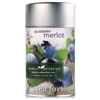 Tea Forte Herbal Retreat BLUEBERRY MERLOT Loose Leaf Organic Herbal Tea, 3.17 Ounce Tea Tin
