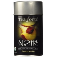 Tea Forte Noir PEACH BRULEE Organic Loose Leaf Black Tea, 3.5 Ounce Tea Tin