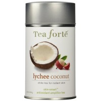 Tea Forte Skin-Smart LYCHEE COCONUT Loose Leaf White Tea, 3.5 Ounce Tea Tin