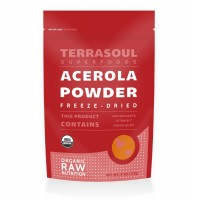 Terrasoul Superfoods Organic Acerola Cherry Powder (Freeze-dried), 4-ounce