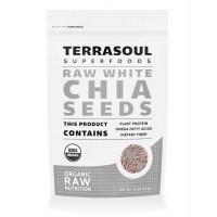 Terrasoul Superfoods White Chia Seeds (Organic), 1 Pound