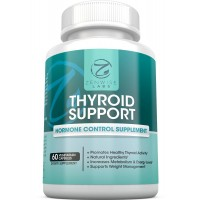 Thyroid Support Supplement - For Wellness, Diet & Weight Loss for Men & Women - Boosts Energy & Metabolism - With Vitamin B12, Iodine, Zinc, L-Tyrosine & Ashwagandha