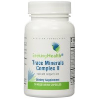 Trace Mineral Complex II | Iron and Copper Free | 10 Essential Chelated Trace Minerals | Iodine, Zinc, Selenium, Manganese, Chromium, Molybdenum, Potassium, Boron, Vanadium, Horsetail | 30 Vegetable Capsules | Free Of Common Allergens | Non-GMO | Physicia