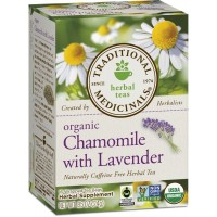 Traditional Medicinals Organic Chamomile with Lavender Tea, 16 Tea Bags