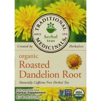 Traditional Medicinals Organic Roasted Dandelion Root Herbal Tea 16 Bags